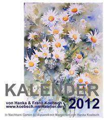 Pastellmalerei, Kalender, 2012, Aquarellmalerei