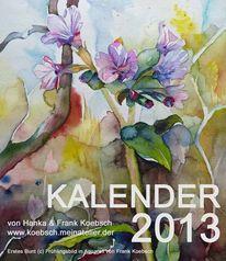 Aquarellmalerei, 2013, Kalender, Pastellmalerei