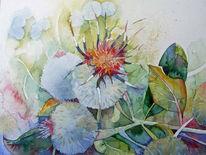 Blumen, Sommer, Aquarellmalerei, Blüte