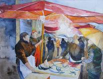 Malen, Aquarellmalerei, Fisch, Gemälde