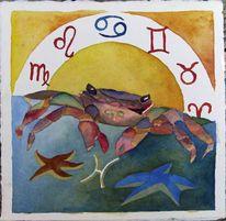Sternzeichen buch, Ostsee, Tierkreiszeichen skorpion, Aquarellmalerei
