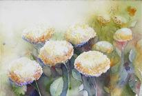 Aquarellmalerei, Blumen, Gemälde, Zauber