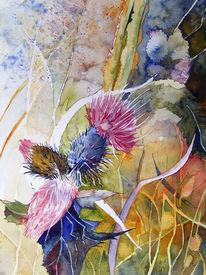 Stachel, Malerei, Stachlig, Aquarellmalerei