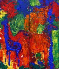 Malerei, Abstrakt, Afrika
