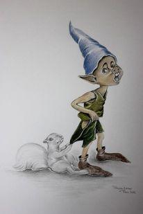 Comic, Kinder, Märchen, Wald