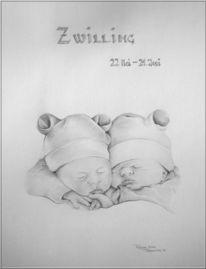 Kind, Zwillinge, Portrait, Baby