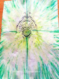 Muster, Kugelschreiber, Grün, Waschen