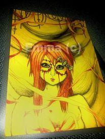 Gelb, Kette, Ausstellung, Rot schwarz