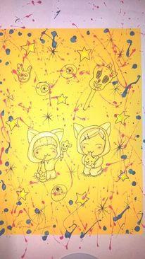 Chibi, Anime, Katze, Süßichkeit