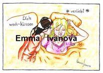 Comic, Morgen, Lesbisch, Liebe