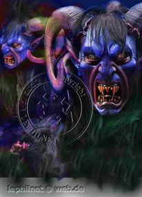Maske, Dämon, Alptraum, Diable