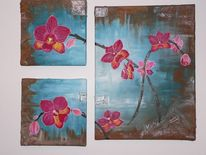 Blumen, Lila, Braun, Arrangement