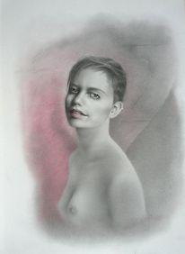 Malerei, Portraitzeichnung, Portrait, Bleistiftzeichnung