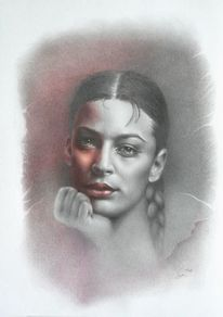 Portrait, Fotografie, Skizzenzeichnung, Porträtmalerei