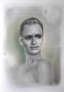 Porträtmalerei, Fotovorlage, Portrait, Portraitzeichnung