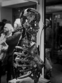 Figurativ, Skulptur frau metall, Weiblich, Frau