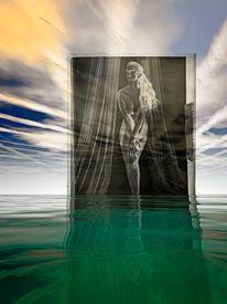 Fantasie, Himmel mit streifen, Akt, Abstrakt