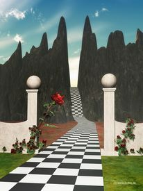 Surreal, Tor, 3d, Fantasie