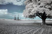 Infrarotfotografie, Feld, Atomkraftwerk, Strom