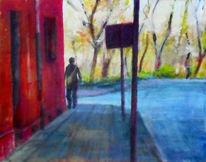 Tag, Gehen, Weg, Malerei