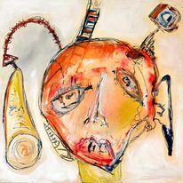 Gesicht, Portrait, Malerei, Abstrakt