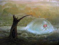 Blase, Wald, Mädchen, Fantasie