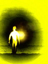 Mann, Gelb, Sonne, Licht