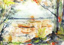 Aquarell, Landschaft