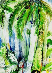 Grün, Palmen, Landschaft, Thailand