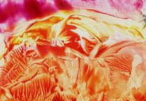 Malerei, Surreal, Orange