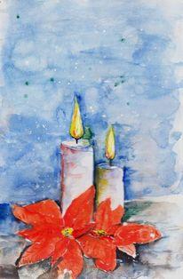 Flammen, Weihnachten, Rot, Kerzen