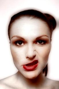 Frau, Schnute, Portrait, Fotografie