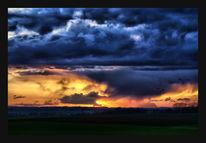 Himmel, Wolken, Regen, Sonnenuntergang
