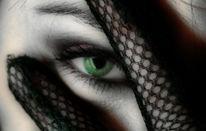 Frau, Geheimnissvoll, Augen, Hand