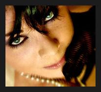 Frau, Portrait, Gesicht, Grün