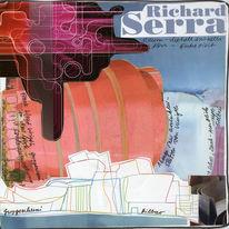 Zeichnung, Collage, Kunstbuch, Schrift