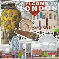 London, Trubel, Britisch, Collage