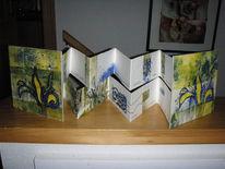 Wachsen, Leporello, Pflanzen, Schrift