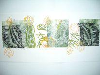Blühen, Wachsen pflanzen, Druckgrafik