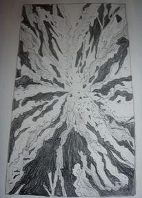 Zerbrechen, Dunkel, Glas, Lithografie