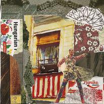 Collage, Ungarische spezialitäten, Bunt, Sauber