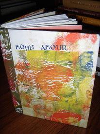 Gestaltung, Amour, Handgebunden, Gedruckt