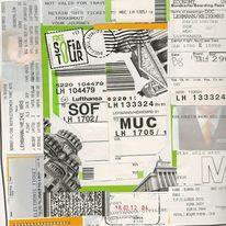 Bulgarien, Lufthansa, Collage, Reisetagebuch