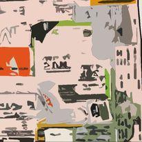 Verfremden, Collage als vorlage, Kontrast, Mischtechnik