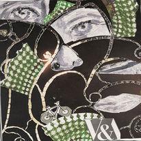 Design, Collage, Glas, Museum