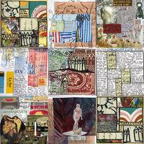 Collage, Zaragoza, Kunstbuch, Reise