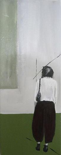 Malerei, Menschen, Wand, Frau