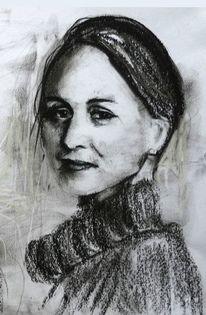 Pastell portrait frau, Zeichnungen, Privat