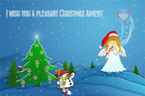 Engel, Illustration, Weihnachten, Kreativ