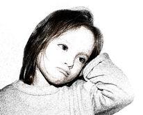 Mädchen, Mischtechnik, Traurig, Fotografie